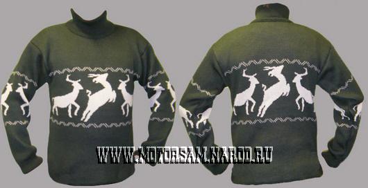 свитер мужской с оленями связать. свитер с оленями схема вязания.