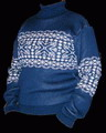 Мужской свитер - НОРВЕЖСКИЙ ОРНАМЕНТ синий